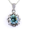 1.50 Ct AAA Certified Blue Diamond Solitaire Pendant, Great Shine