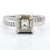 2.15 Ct AAA Quality Off-White Diamond Solitaire Ring, Great Luster