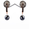 7 mm AAA Certified Black Diamond Designer Earring, Great Brilliance