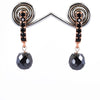 7 mm Certified Black Diamond Designer Earrings in Rose Gold Finish - ZeeDiamonds