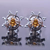 1.6 Ct Champagne Diamond Solitaire Studs in 925 Silver - ZeeDiamonds