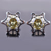 1.4 Ct Champagne Diamond Solitaire Studs in 925 Silver - ZeeDiamonds