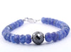 5mm-7mm Certified Tanzanite Gemstone Bracelet - ZeeDiamonds