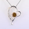 1 Ct Champagne Diamond Beautiful Pendant in Heart Shape Design - ZeeDiamonds