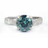 1.90 Ct AAA Certified Blue Diamond Solitaire Ring, New Design