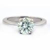 2.40 Ct AAA Certified Round Off-White Tinge of Blue Diamond Ring