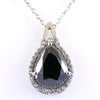 5.15 Ct Pear Shape Black Diamond Designer Pendant with Diamond Accents - ZeeDiamonds