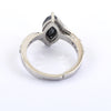 2 Ct Marquise Shape Black Diamond Ring With Diamond Accents - ZeeDiamonds