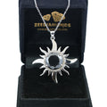 2 Ct AAA Quality Black Diamond Solitaire Pendant with Diamond Accents