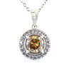2.10 Ct Certified Champagne Diamond Pendant With Diamond Accents - ZeeDiamonds