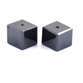 12.90 Ct, Pair of Cube Shape Black Diamond Beads- AAA Certified