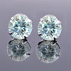 3 Ct AAA Quality, Certified Light Blue Diamond Solitaire Studs, Ideal For Gift, Great Brilliance ! - ZeeDiamonds
