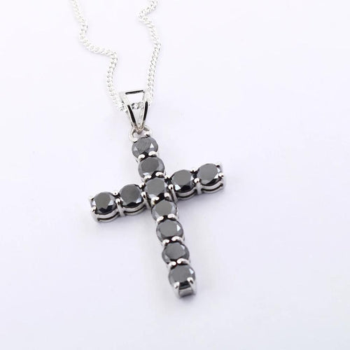 Aaa certified black diamond cross pendant mens jewelrybirthday 6ct certified black diamond cross pendant in white gold aaa earth mined men pendants mozeypictures Images