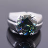 16.50 Ct Blue Diamond Men's Ring. Great Shine & Luster.100% Genuine & Certified.HUGE & RARE! - ZeeDiamonds