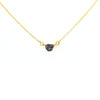 AAA Certified Rough Gray Diamond Chain Necklace in Yellow Gold