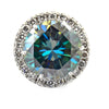 22.70 Ct AAA Certified Blue Diamond Solitaire Pendant With VVS Diamonds - ZeeDiamonds