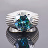 9.35 Cts AAA Certified Blue Diamond Solitaire Ring Excellent Cut & Luster!