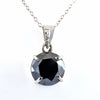 4.50 Ct Round Black Diamond Solitaire Pendant, AAA Certified