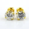 Certified 1.40Ct, Elegant Off-White Diamond Screw Back Solitaire Studs - ZeeDiamonds