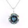 5.10 Ct AAA Certified Blue Diamond Solitaire Pendant, Beautiful Sparkle