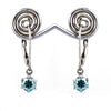 2.50 Ct AAA Certified Blue Diamond Dangler Earring in Prong Setting