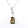 2.20 Ct Pear Cut Champagne Diamond Solitaire Fancy Pendant - ZeeDiamonds