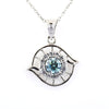 0.70 Certified Beautiful Blue Diamond Pendant with Diamond Accents
