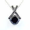 3.30 Ct Black Diamond Designer Pendant, Great Shine & Luster - ZeeDiamonds