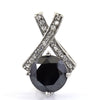 3.15 Ct, Black Diamond Accents Pendant, Earth Mined-Certified Diamond - ZeeDiamonds