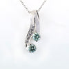 1.80 Ct, Certified Blue Diamond Beautiful Accents Pendant