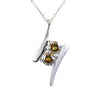 1.25 Ct Certified Pair of Champagne Diamonds Pendant, Latest Design