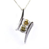 2 Ct Two Champagne Diamonds Solitaire Pendant With Fancy Design - ZeeDiamonds