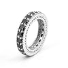 0.40 Cts Black Diamond Band Ring in 925 Sterling Silver - ZeeDiamonds