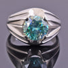 0.8 Ct Blue Diamond Ring in 925 Sterling Silver