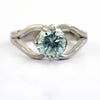 90 Cent Blue Diamond Ring in 925 Sterling Silver