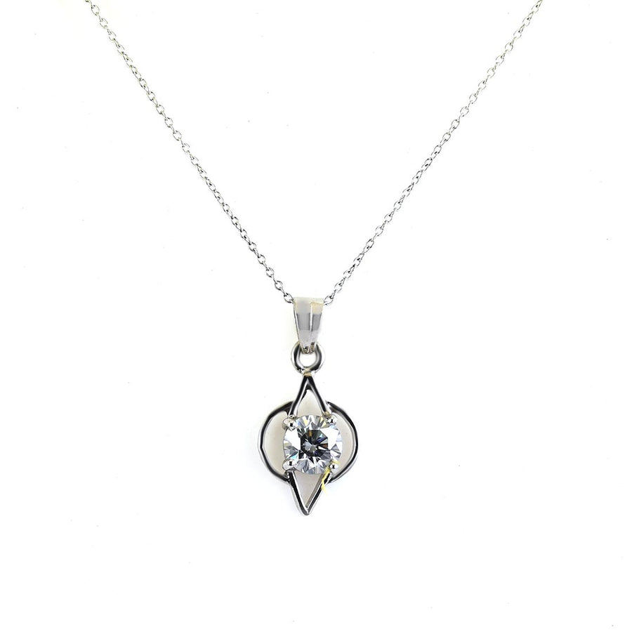 2 Ct AAA Certified Off White Diamond Pendant In 925 Silver - ZeeDiamonds