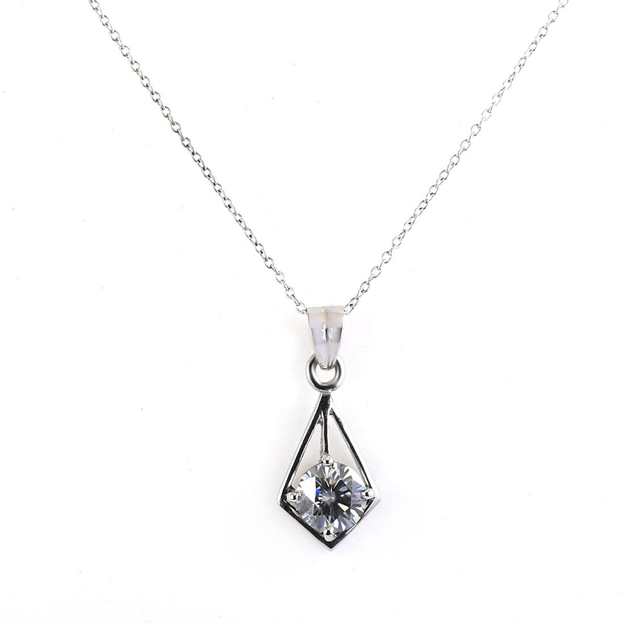 2.5 Ct AAA Certified Blue Diamond Pendant in 925 Silver - ZeeDiamonds