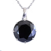 10 Ct, Huge & Rare Black Diamond Solitaire Pendant, Earth Mined-Certified Diamond - ZeeDiamonds