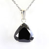 6 Ct Pear Shape Black Diamond Pendant In Sterling Silver - ZeeDiamonds