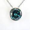 14.85 Ct AAA Quality Huge Blue Diamond Solitaire Pendant, Excellent Luster - ZeeDiamonds
