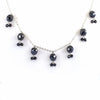 Designer Black Diamond Chain Necklace - Elegant & Delicate - ZeeDiamonds