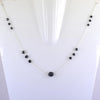 AAA Certified Round Faceted Black Diamond Chain Necklace, Great Style