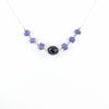 14.30 Ct Black Diamond & Tanzanite Gemstone Chain Necklace, Great Gift