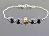 4.90 Ct Black with Champagne Diamond Chain Bracelet- AAA Certified
