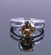 1.65 Ct Elegant Champagne Diamond Solitaire Ring, Excellent Cut & Luster - ZeeDiamonds