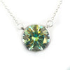 4.35 Ct AAA Certified Greenish Blue Diamond Solitaire Pendant, Beautiful Sparkle