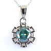 1 Ct Certified Blue Diamond Solitaire Pendant