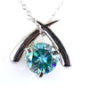 1 Ct AAA Certified Blue Diamond Solitaire Pendant