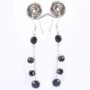 AAA Certified Elegant Black Diamonds Dangler Earrings, Latest Style