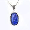 Fancy Cabochon Lapis Lazuli Gemstone Pendant, Great Shine & Luster